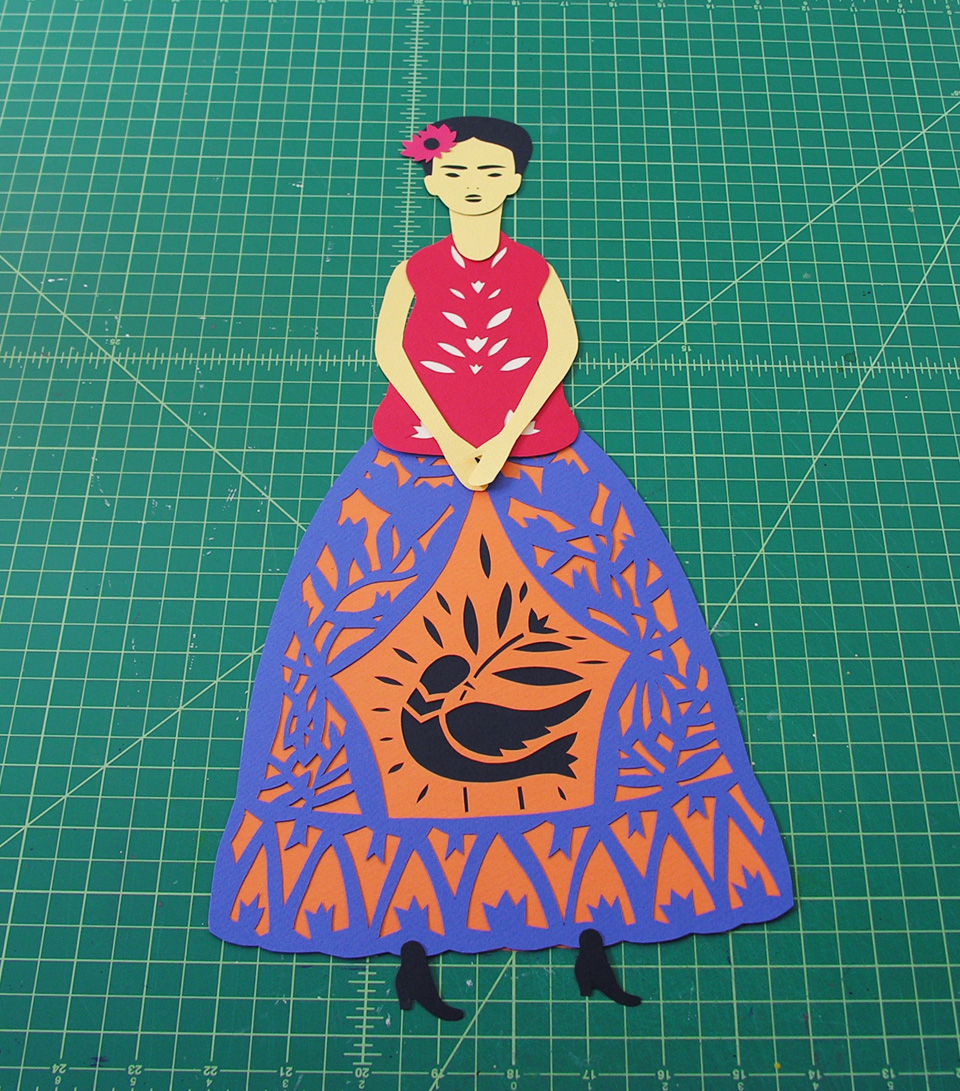 frida kahlo tutorial all about papercutting
